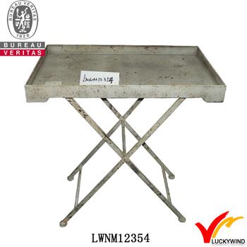 Mesure Shabby D'appoint Buy De Croisés Jambes Croisées Commande Table Chic On Sur table pieds Pliante D'appoint Product Faite KJ1Flc