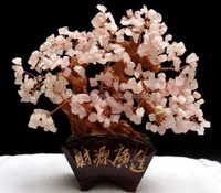 Lucky Tree!!! Natural Pretty Rose Quartz Crystal Gem Tree+ packing