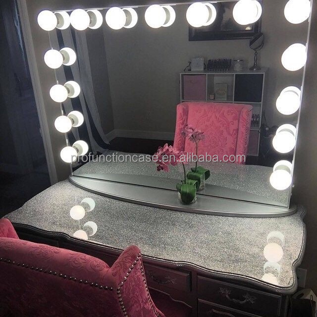 maison chambre meubles de luxe clairage miroir de maquillage pour coiffeuse avec led lumi res. Black Bedroom Furniture Sets. Home Design Ideas