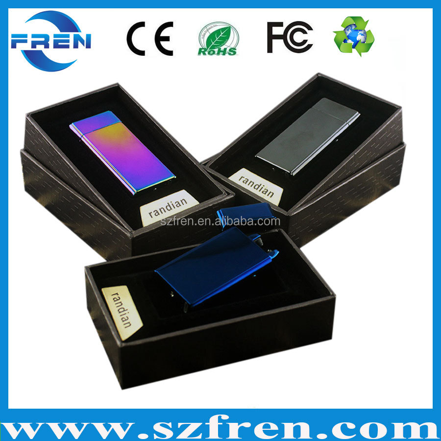 Rainbow color usb lighter, rechargeable arc lighters, no oil no gas electrinic lighter