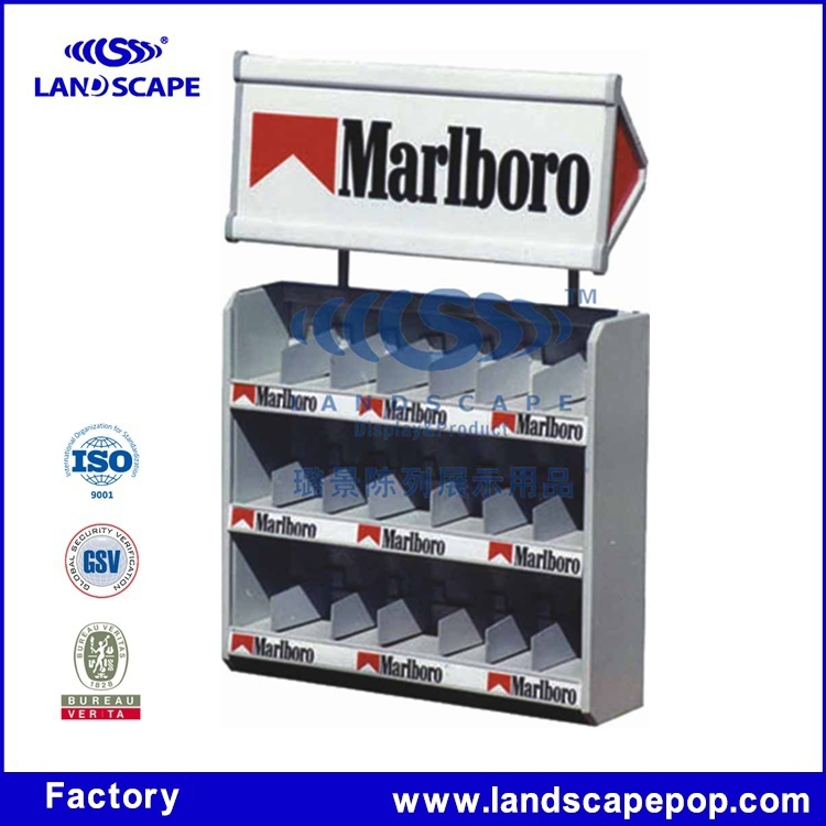 Tobacco metal material display counter for retail shop