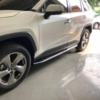 Good Quality Car Running Boards Auto Side Step Bar Pedals Brand New Nerf Bars For Toyota RAV4 2019 2020 Accessories