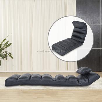 Lounge Sofa Bed Folding Adjule Floor Lounger Sleeper Futon Mattress Seat Chair