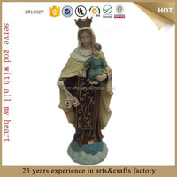 virgin mary with baby jesus polyresin catholic religious statues for sale