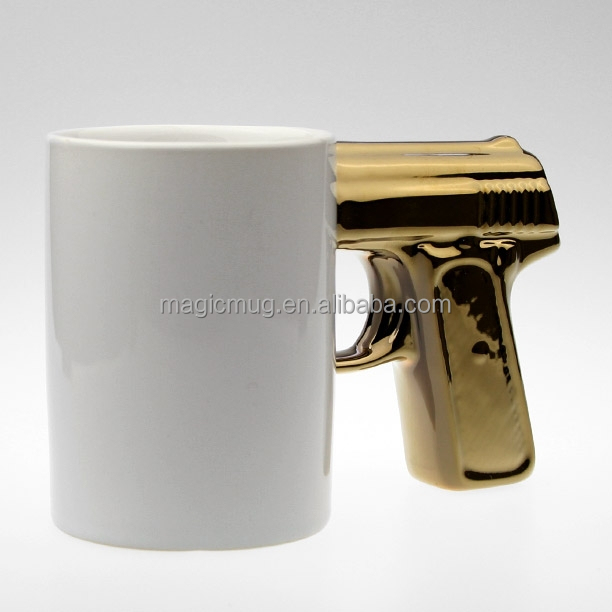 11oz Ceramic Gun Handle Ceramic Gun Mug Gun Coffee Mug Custom Logo
