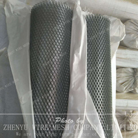 Expanded metal mesh rolls and panels