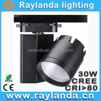 30w Bright Led Lighting Cree Cob Led Track Focus Light