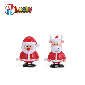 christmas items walking santa claus wind-up toys with high quality