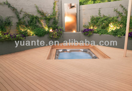 Fashionable low maintainence wood plastic composite decking