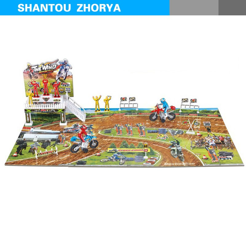 Zhorya kids mind developing intelligent series cross-road vehicle DIY puzzle toy