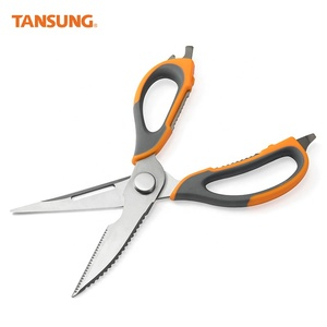 Stainless Steel Multi functional Kitchen Shears Open Bottle Crack Nuts Strong Scissors