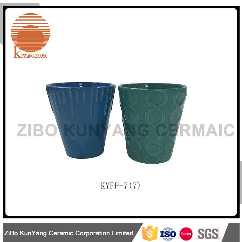 Durable OEM ceramic small clay flower pot