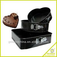 3 NON STICK SPRINGFORM CAKE PAN BAKING BAKE TRAY TINS HEART SQUARE ROUND SET