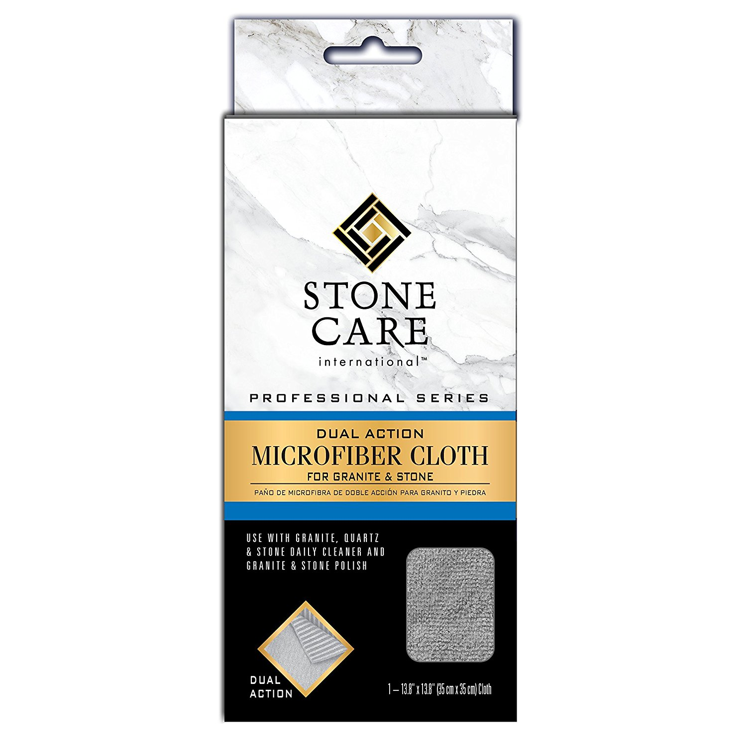 Stone Care International Grantie & Stone Dual Action Microfiber Cloth - Removes Dirt and Polishes Stone