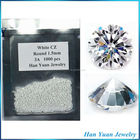 Stock 1.25mm White Synthetic Cubic Zirconia for jewelry making
