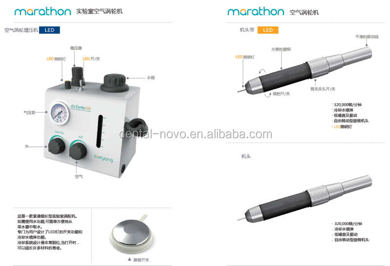 Dental micro motor mat300a laboratory air turbine 320 000 for Low rpm air motor