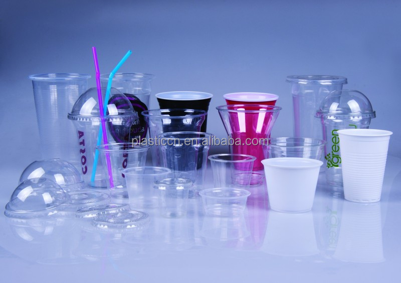 Yiwu Green bubble tea plaistc glass cup