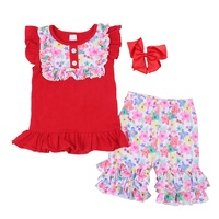 wholesale kids clothing set cute baby girl summer 2019 newest clothes flower fashion children girls boutique clothing sets