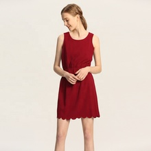 Hot selling custom OEM fashion solid een <span class=keywords><strong>stuk</strong></span> casual lady vrouwen geplooide jurk
