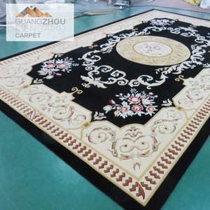 Chinese wool and silk hand tufted custom print prayer silk persian commercial carpet rugs tiles for sale