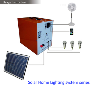 Dc Solar Home Lighting System With Build Inside Long Time Working Capacity 12v55ah Lead Acid Battery 80w Controllers