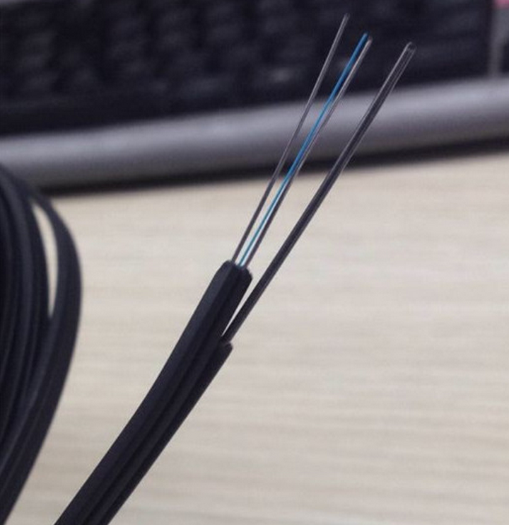 Dual Core Cables : Outdoor self supporting dual core fiber optic drop cable