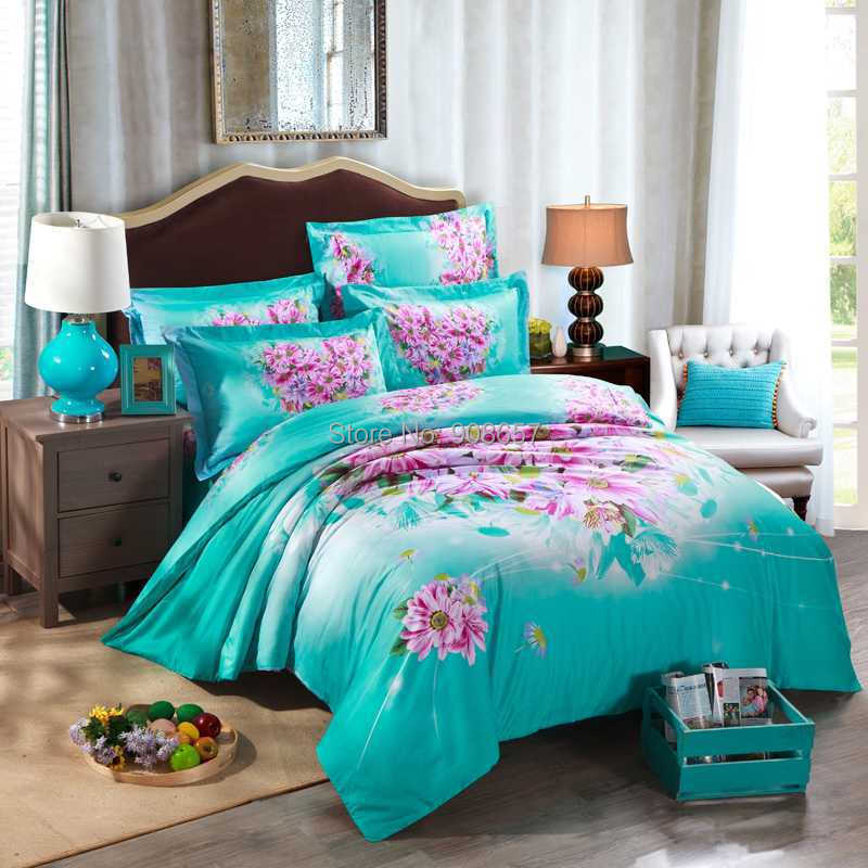 Aqua And Pink Bedroom Ideas: Online Get Cheap Dark Turquoise Bedding -Aliexpress.com