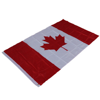 Cheap Factory Supply 3x5ft Quality Polyester National Country City Flags State Flag Red And White And Red Canada Flag