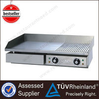 Professional Stainless Steel Counter/Stand Electric Flat griddle pan