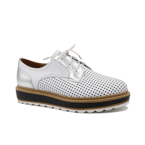 41b5c639322691 New fashion china factory cowhide wholesale lace up flat sport shoes for  women