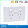 YOUU Australian Electrical 3 Gang 2 Way New Design Wall Switch And Socket Safe