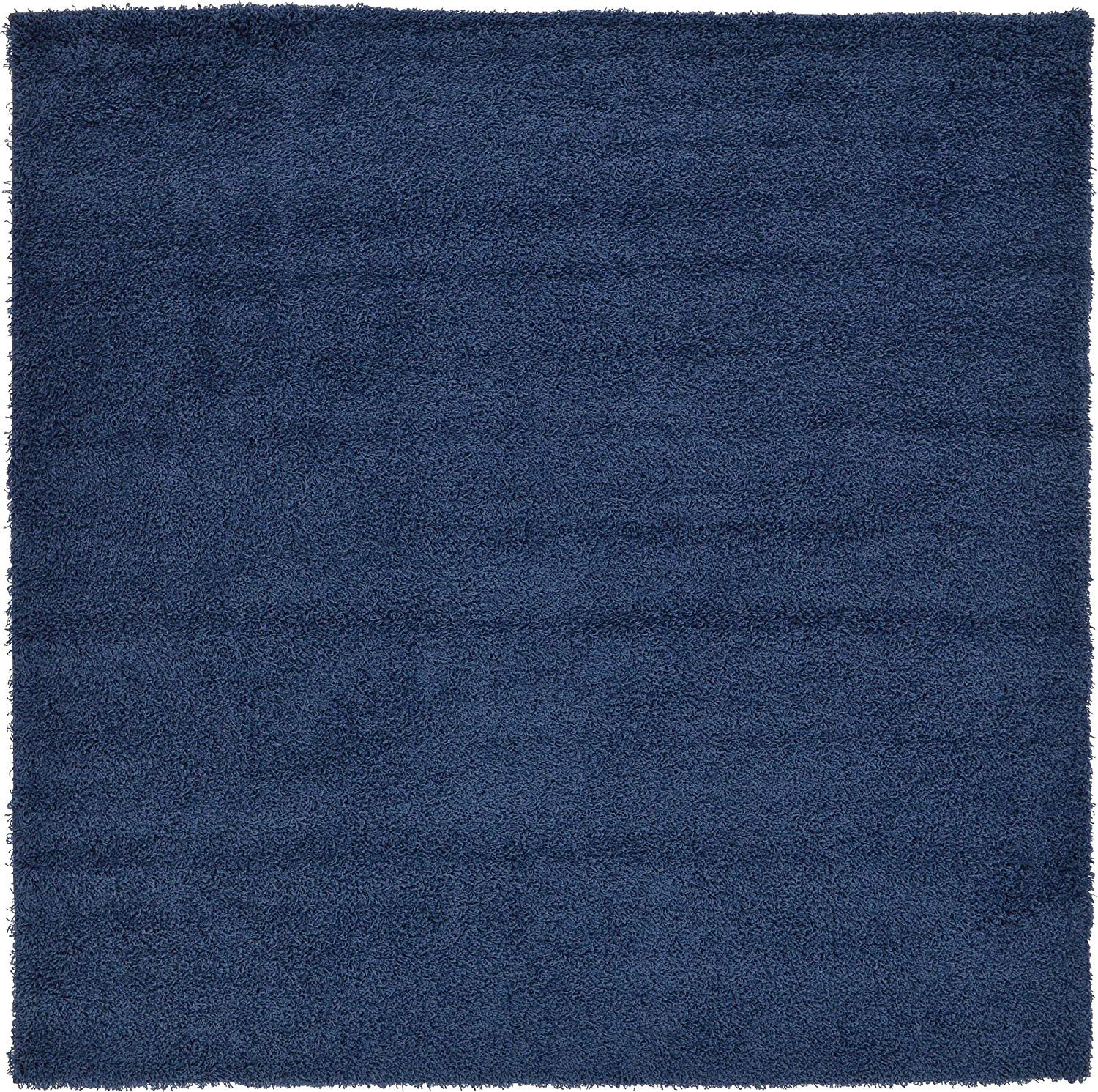A2Z Rug Cozy Shaggy Collection 8x8-Feet Solid Area Rug - Sapphire Blue