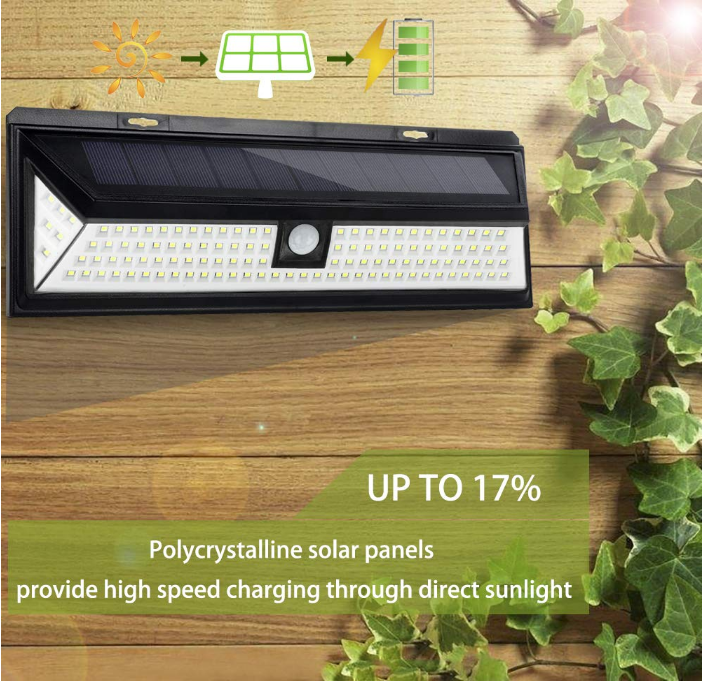 Super Bright Wireless Motion Sensor Lamp Waterproof Security Lights Solar Lights Outdoor 118 LED