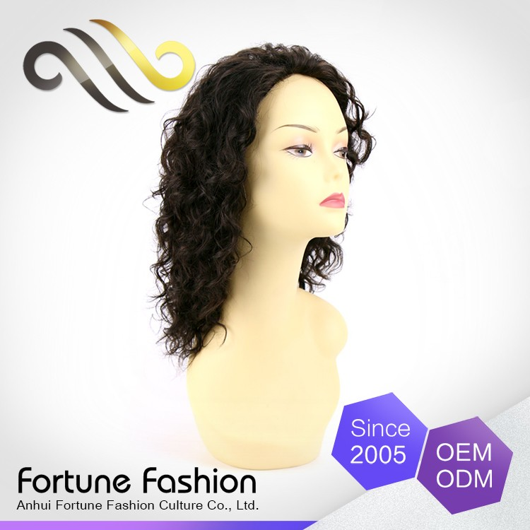 Lovely Ladies Cheap Black Human Hair Wigs Lace Front Wig