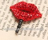 Fashion Red Mouth Earphone Ear Cap Dock Dust Plug For iPhone 4 4S Ipad2