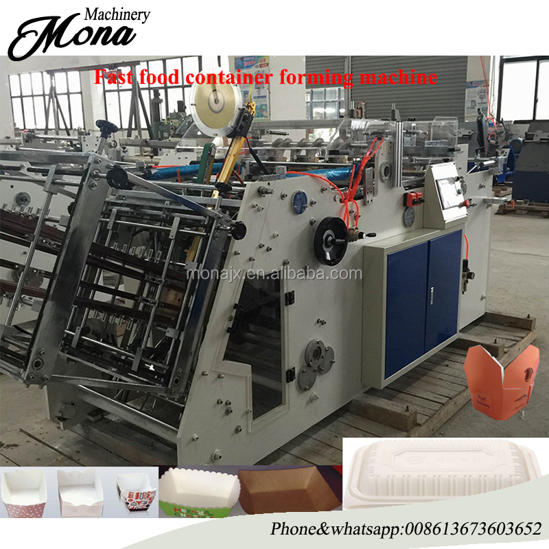 008613673603652 Lage kosten en hoge winst Hamburger Noodle Papier Lunchbox Making Machine