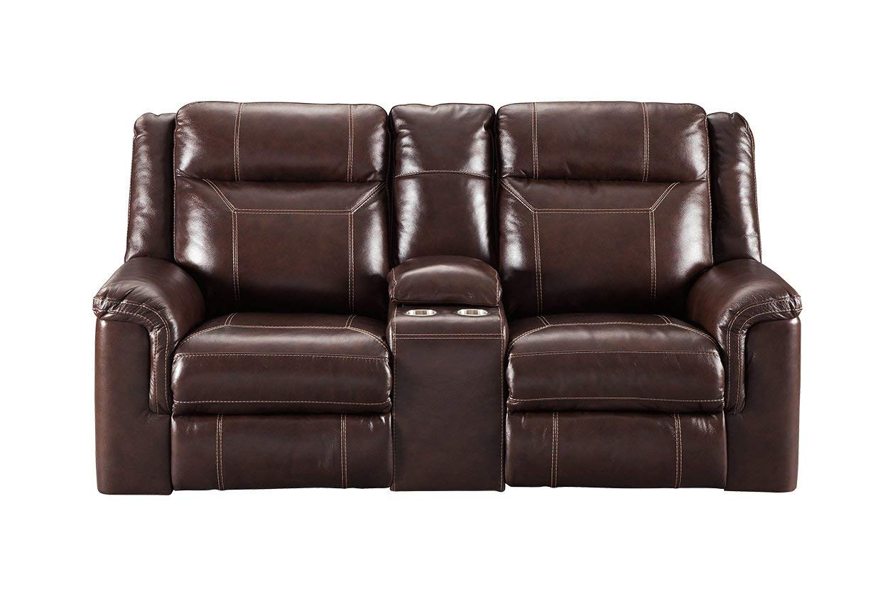 Madhu's COLLECTION MG7860001 Love Seat Sofa Recliner, Large, Brown
