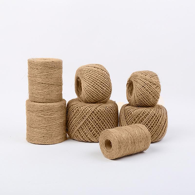 DIY High quality factory brown 100% natural jute tie hemp rope