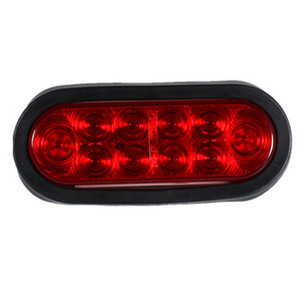 Red 6 inch Oval LED Car Light STOP TURN TAIL light for trailer