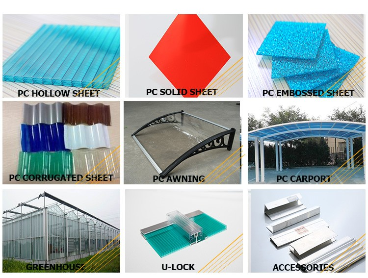 High Quality Balcony Roof Covering House Roofing Cover Materials