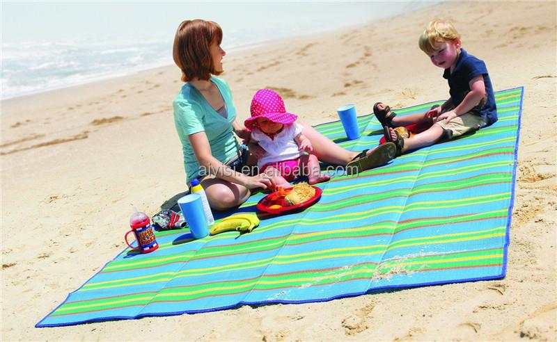 Plastic Foldable Handy Pp Mat Outdoor Picnic Beach Blanket