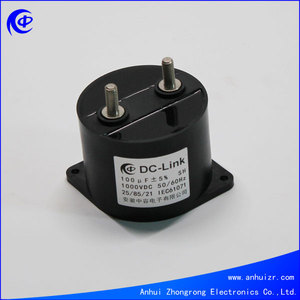 Dry Film Capacitor 100uF 1000VDC Capacitor Water Cooled Induction Heating Resonant Capacitor