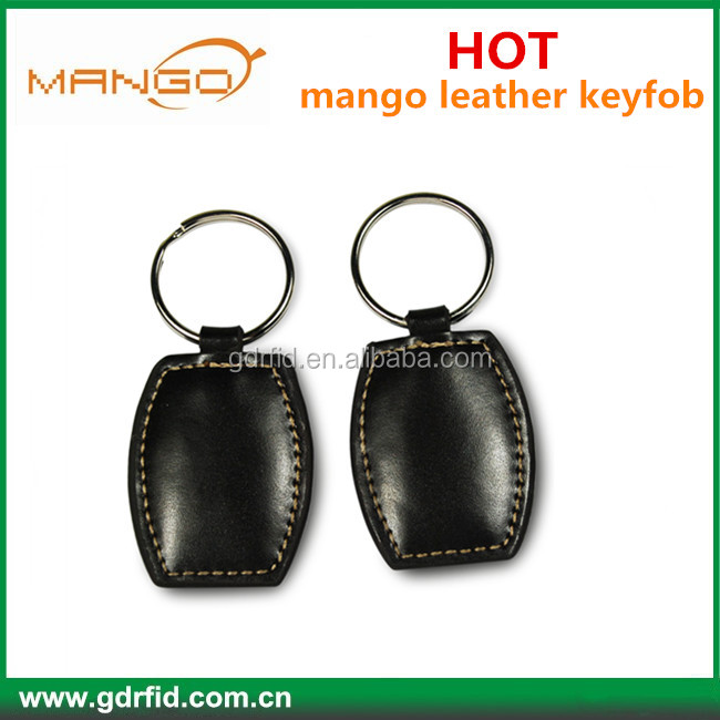 TK4100 RFID leather keychain key fob for key management system