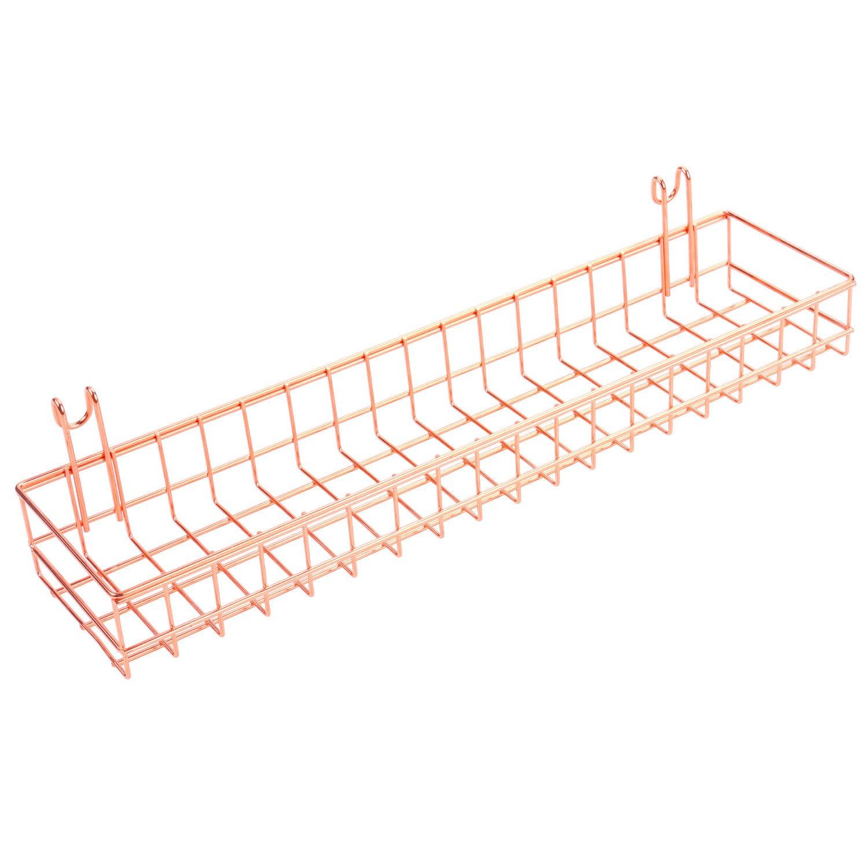 Buy New Wire Mesh Metal Wall Bin Basket With 3 Hooks Rustic