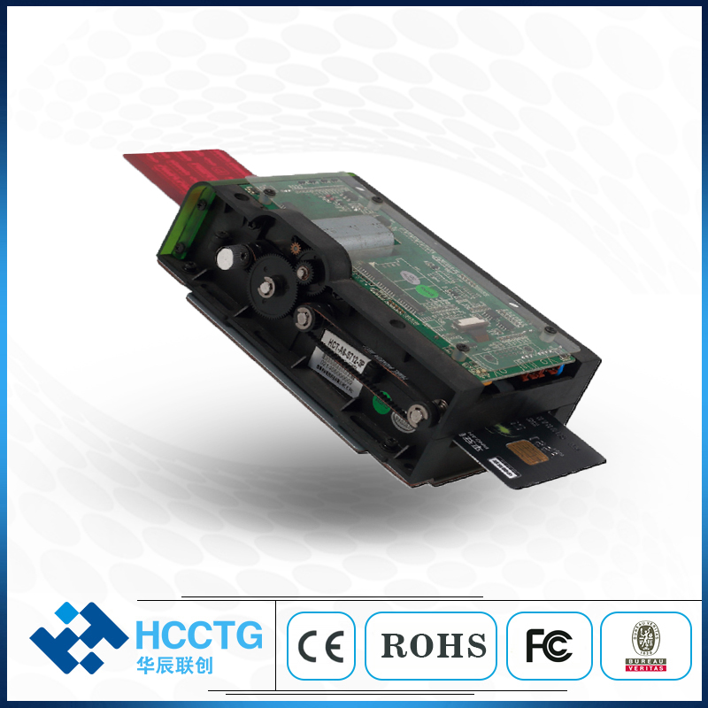 Shenzhen RS232 Plastic Embedded PC Smart RF/IC Kiosk Card Reader Motor HCT-A6