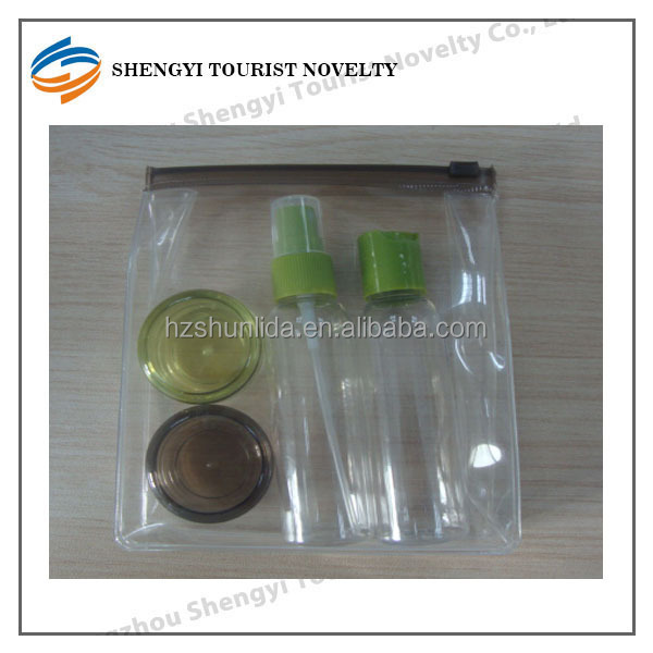 Travel set cosmetic containers/plastic travel set
