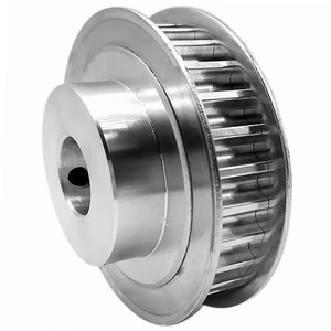 Aluminum Timing Drive Pulley With Bearings For Electric DC Motors, Cheap Nylon Material Belt Driven Gear Pulley Wheel