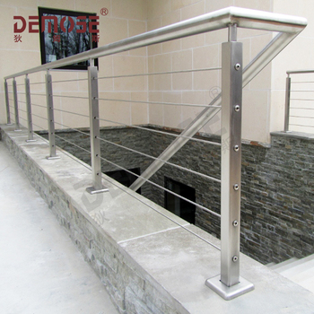 Outdoor Metal Stair Railing With Wire Rope Tensioner Buy Cable Railing Stainless Steel Wire Rope Tensioner Outdoor Metal Stair Railing Product On