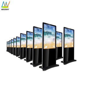 Interactive touch screen 49 inch floor stand full hd digital signage photobooth monitor kiosk