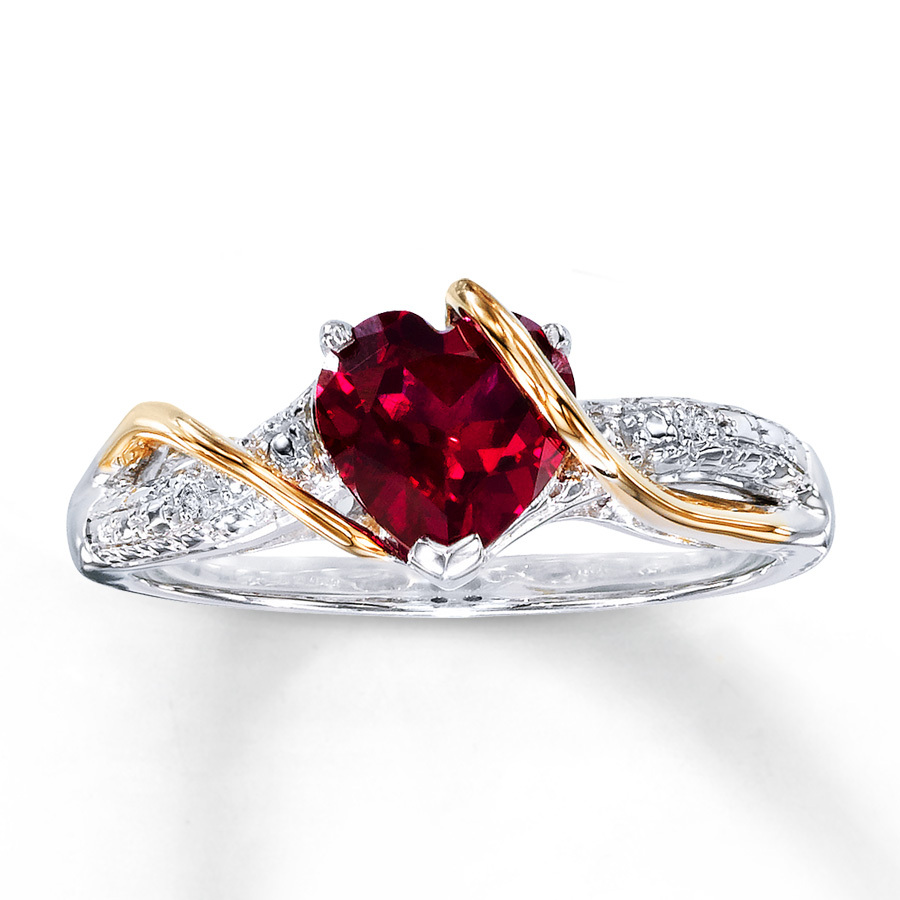 18k Rose Gold Over 925 Stereling Silver Red Ruby Silver Ring ...